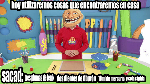 Puto Art Attack =,( - meme
