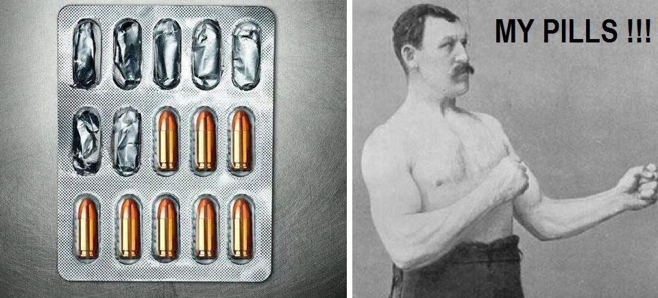 Manly pills - meme