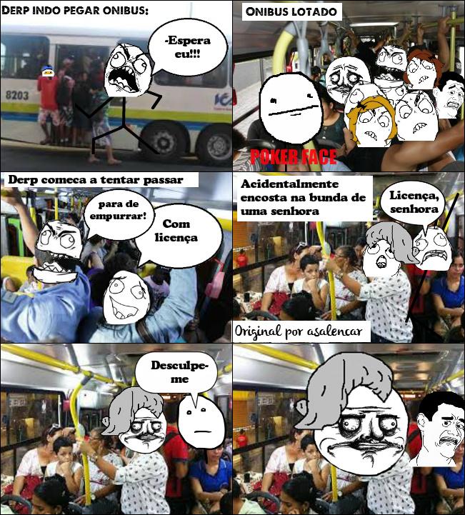 Ônibus lotado - meme