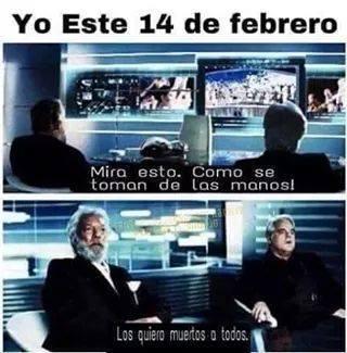 YO ESTE 14 DE FEBRERO :( - meme