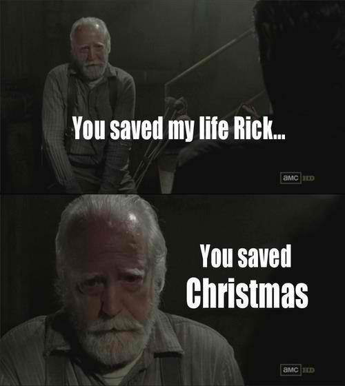 hershel is santa - meme