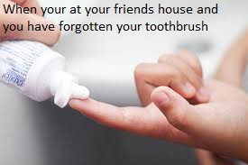 The backup toothbrush - meme