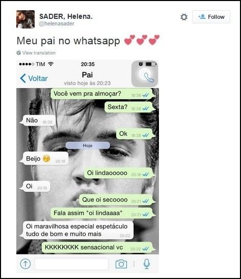 Da série pais no Whatsapp - meme