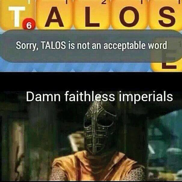 Yall motherfuckers need talos - meme