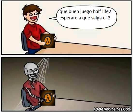Esperando al Half Life 3 - meme