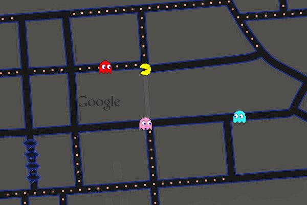 Google Pac-Man Maps - meme