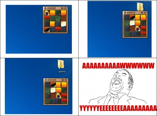 El verdadero uso del Rompecabezas en Windows 7 - meme