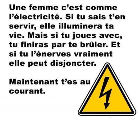 Information électrique - meme