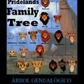 el árbol genealógico del rey leon