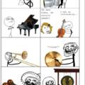 *Si les mèmes avaient des instruments de musique* dsl de la faute