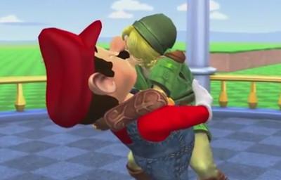 aí você descobre que o Zelda e o Mario Vermelho são gays! Oh god why! - meme