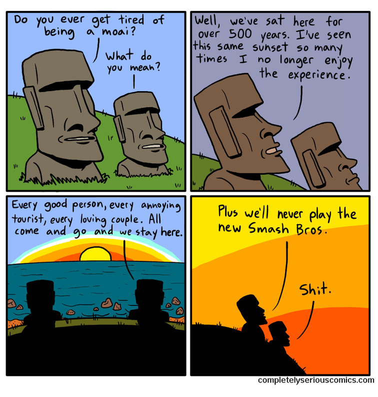 Moai... - meme