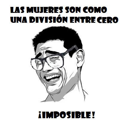 2/0= ¡imposible! - meme