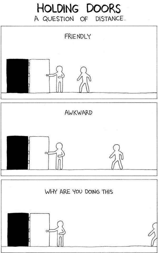 holding doors - meme