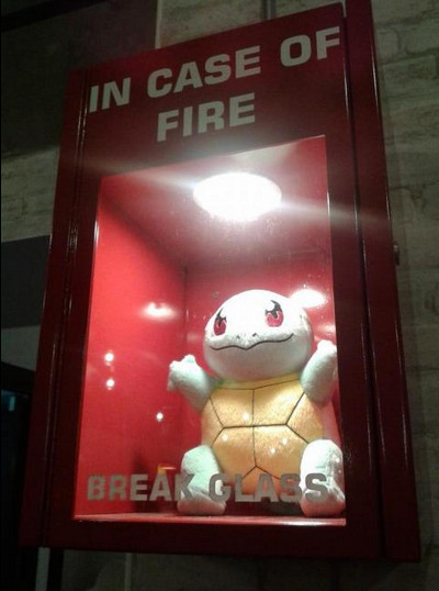 en caso de incendio use a squirtle - meme