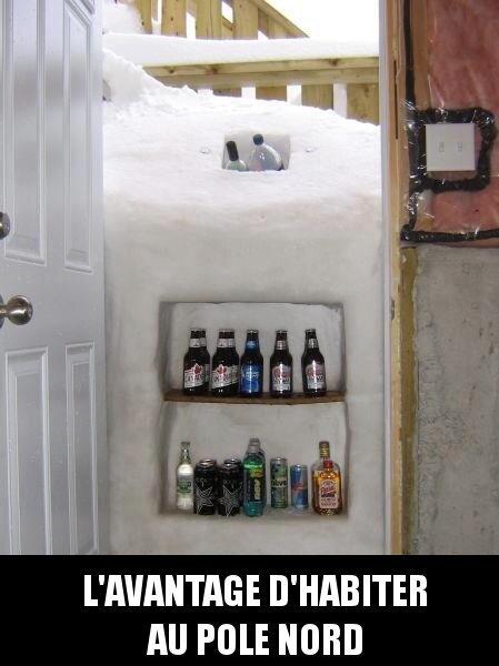 Biere dans la neige - meme
