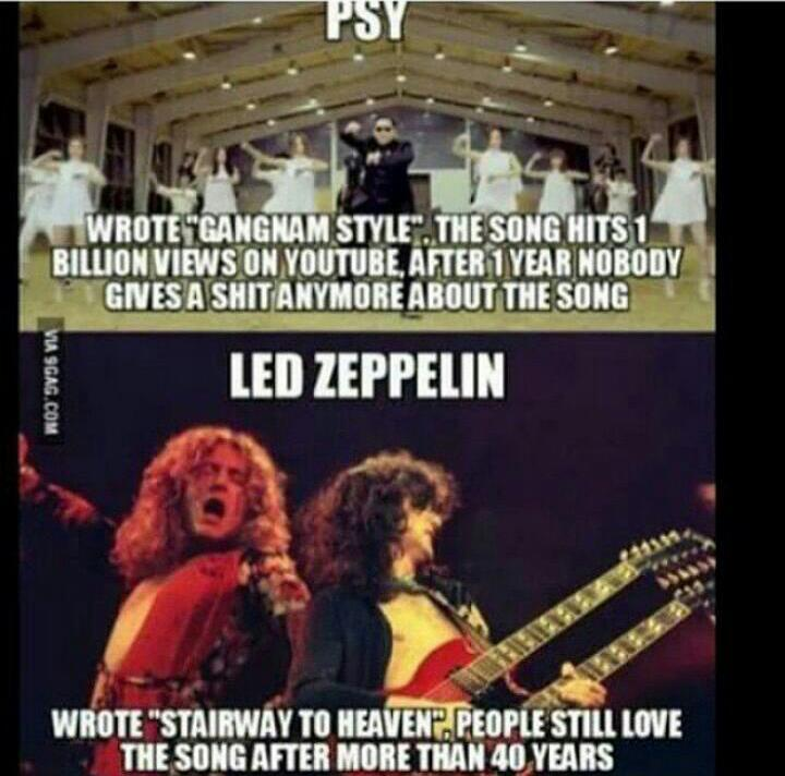 led zeppelin is the best - meme
