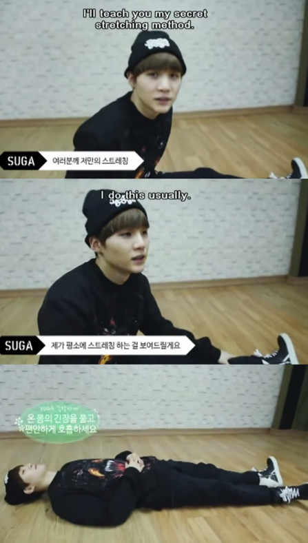 suga showin us how to stretch - meme