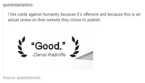 Good, -Daniel Radcliffe - meme