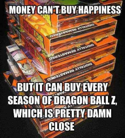 money indeed does buy happiness  - meme