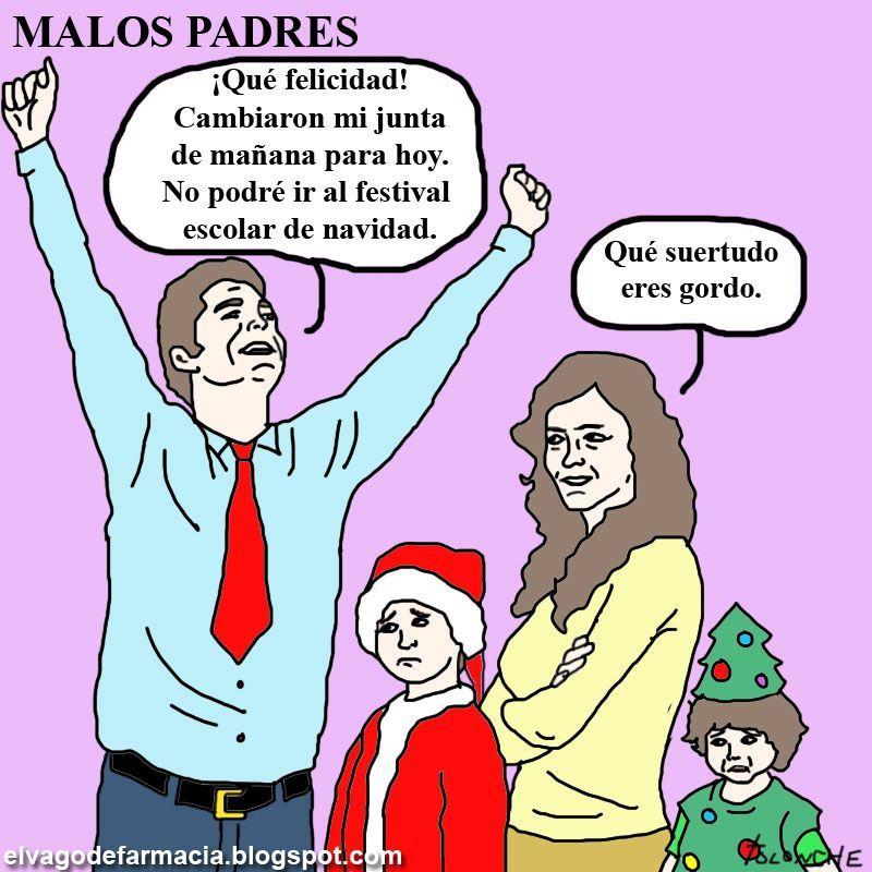 malos padres, incluso en navidad  - meme