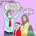 malos padres, incluso en navidad