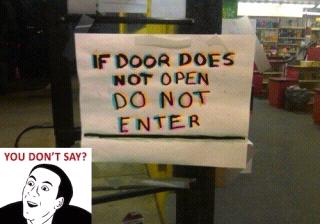 door sign - meme