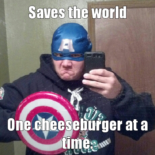 captain merican cheeseburger - meme