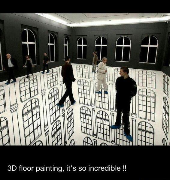 3D floor art - meme