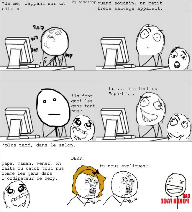 #derp sur l'ordinateur. - meme
