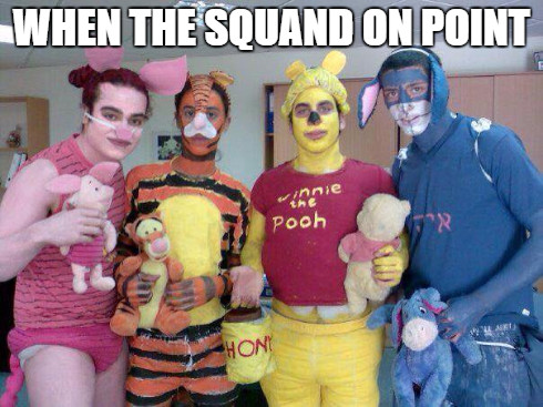 When the squad looking fine - meme