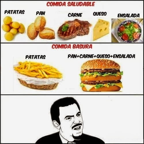 Comida saludable - meme