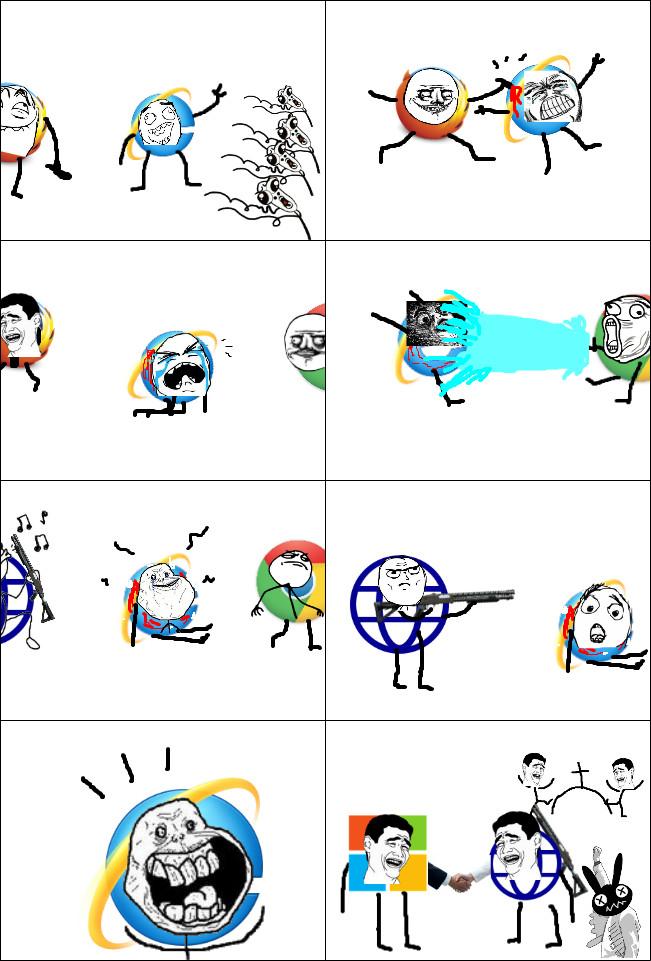 la vie d'internet en 10s...(Firefox/Chrome/Spartan/Microsoft) - meme
