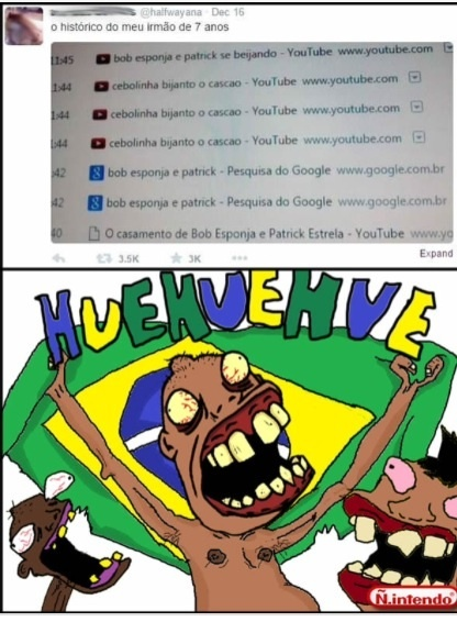 O menino nem pra pesquisar no Google  - meme