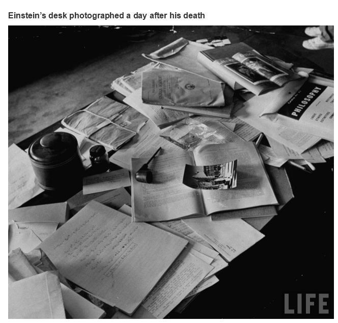 Einstein's Desk  - meme