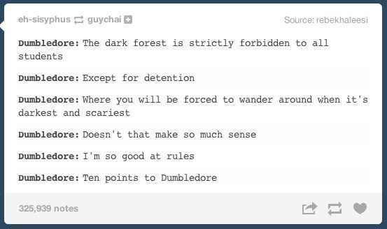 The housecup goes to Dumbledore - meme