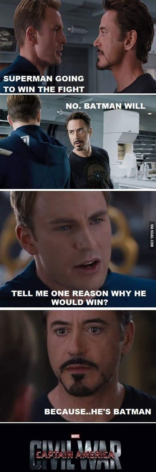batman will win - meme