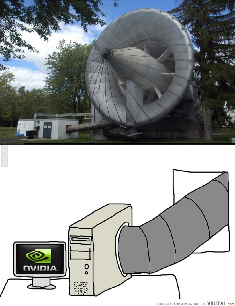 Sistema de enfriamiento para poder jugar los juegos actuales - meme