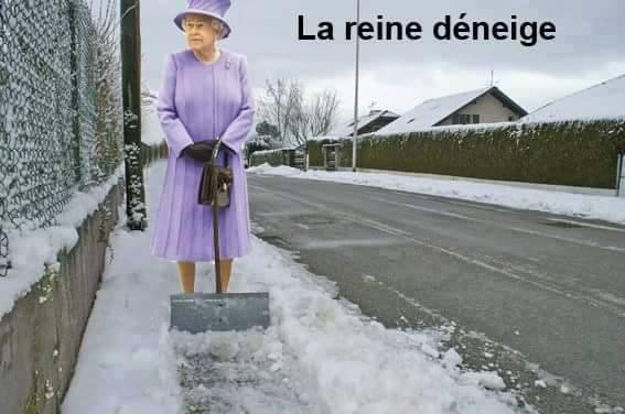 La reine déneige - meme