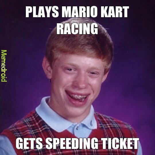 bad luck driving - meme