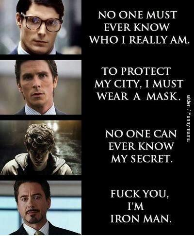 Good guy Tony Stark - meme
