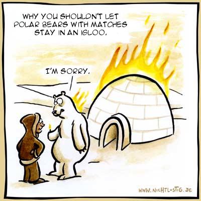 Polar bear & Matches & Igloo - meme