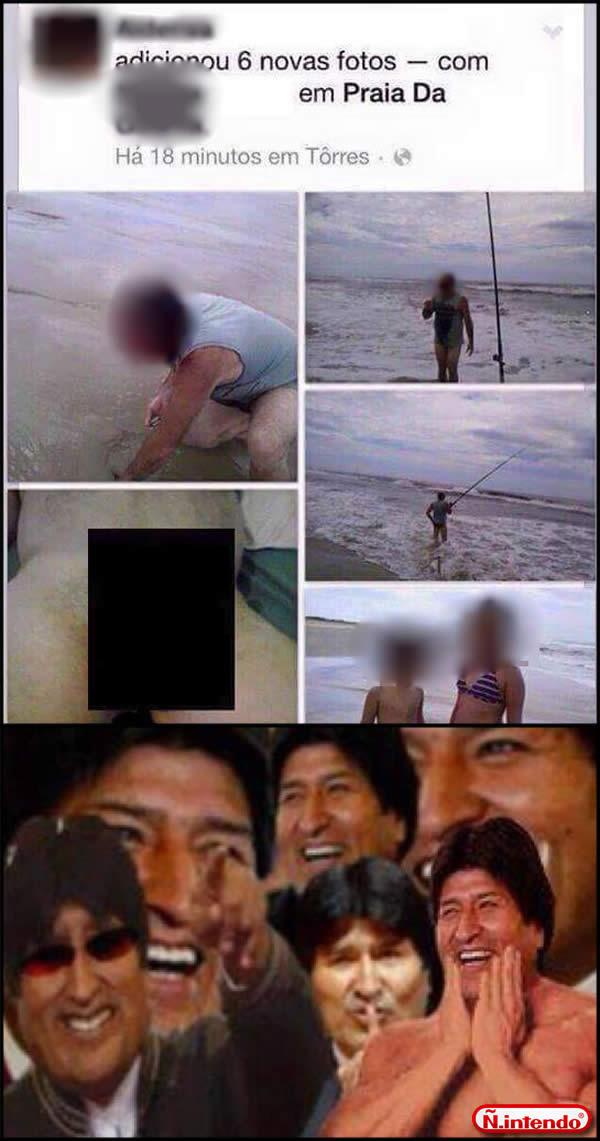 Mandou as fotos pro face e esqueceu de apagar o próprio Nude. - meme