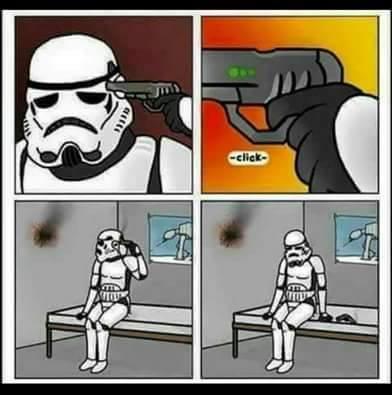 los stormtrooper y su excelente puntería jajaja - meme