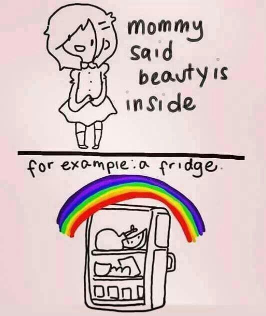 Beauty is on the inside - meme