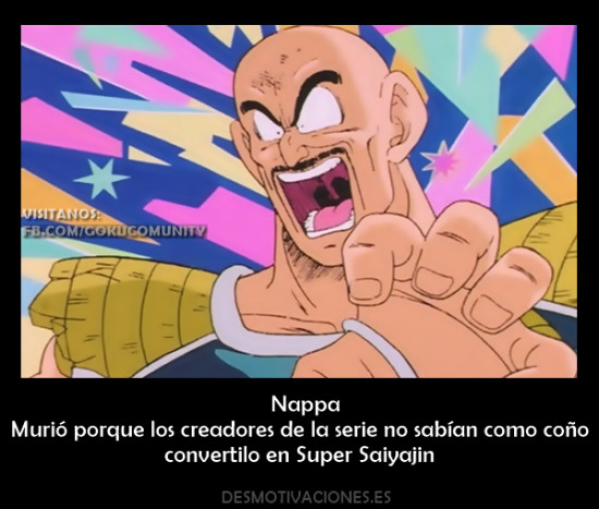 Pobre Nappa - meme