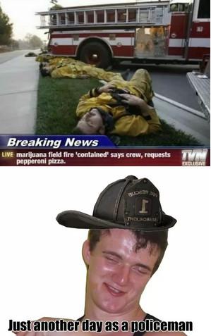 Go Home Firemen, You're High - meme