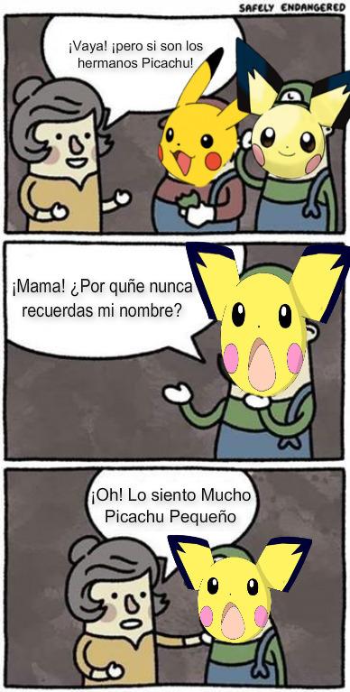 Pobre Picachu pequeño - meme