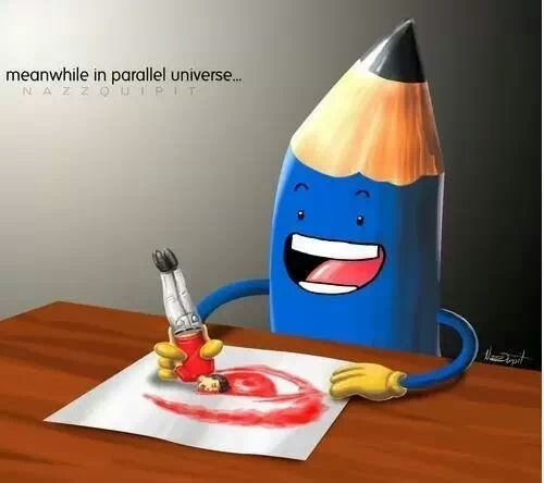 Meanwhile in a parallel universe... - meme