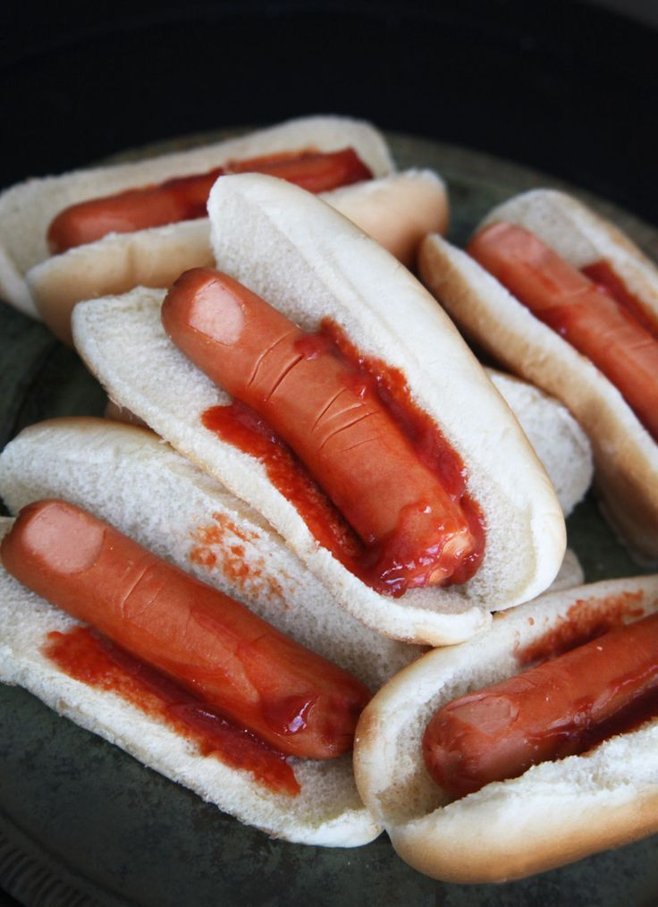 Halloween hot dogs! - meme